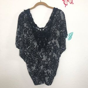 grass collection Size S Lace look  Winged Top